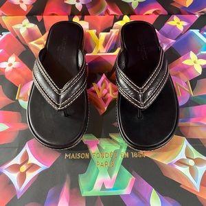 Authentic Louis Vuitton Leather Sandals